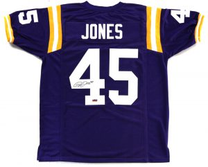 Deion Jones Signed LSU Tigers Purple Custom Jersey -0
