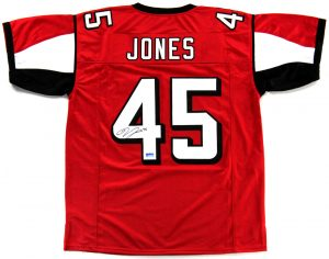 Deion Jones Signed Atlanta Falcons Red Custom Jersey-0