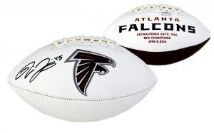 Deion Jones Signed Atlanta Falcons Embroidered NFL Football -0