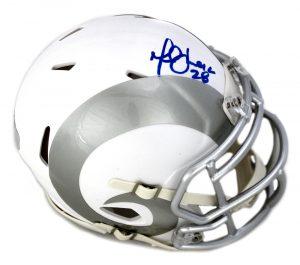 Marshall Faulk Signed St. Louis Rams NFL Ice Mini Helmet-0