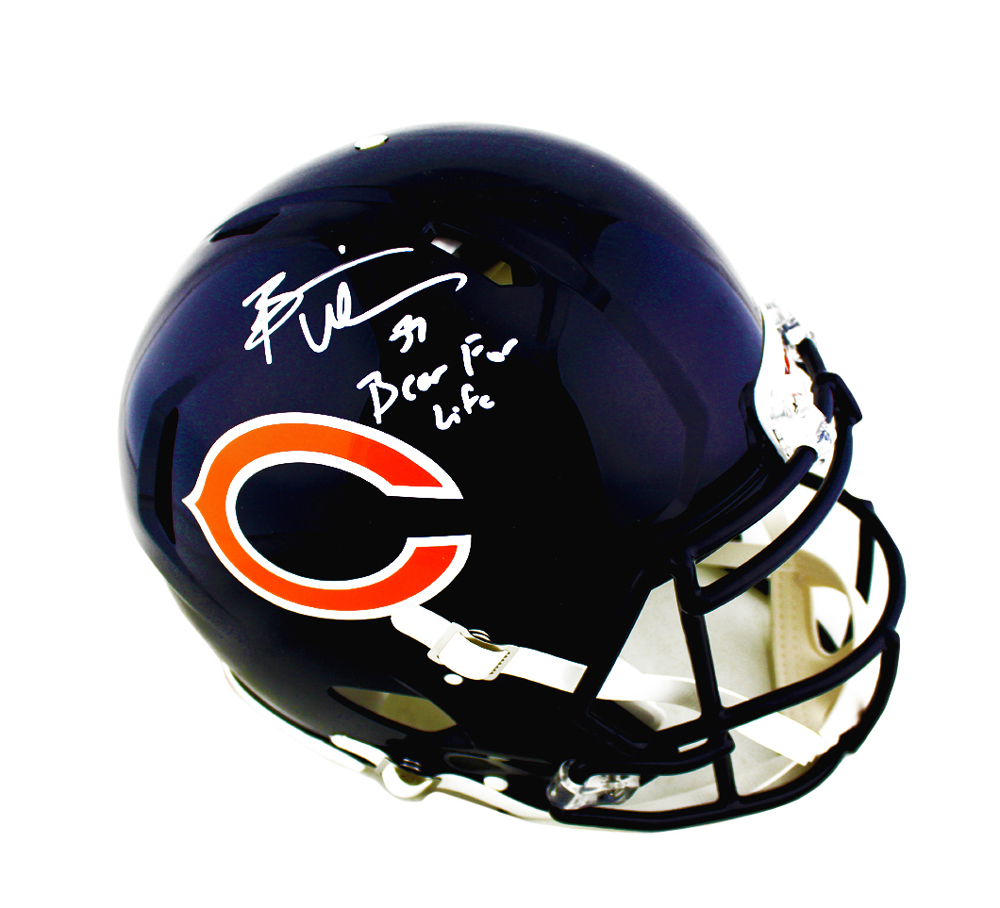 quality design 18cd9 9f79b Brian Urlacher Signed Chicago Bears Speed Authentic Helmet With
