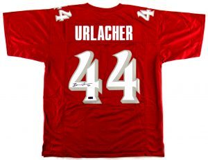 Brian Urlacher Signed New Mexico Custom Red Jersey-0
