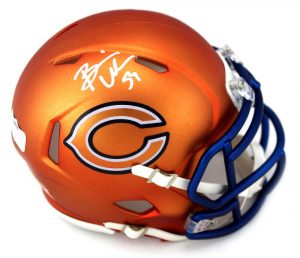 Brian Urlacher Signed Chicago Bears Riddell NFL Mini Helmet-0