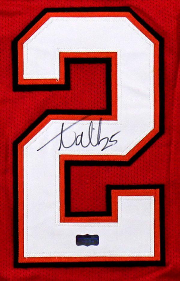 Aqib Talib Signed Tampa Bay Custom Red Jersey-32604