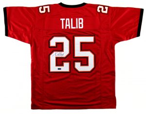 Aqib Talib Signed Tampa Bay Custom Red Jersey-0