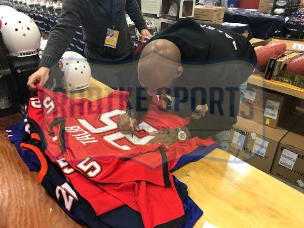 Aqib Talib Signed Tampa Bay Custom Red Jersey-32603