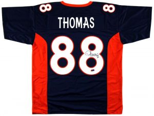 Demaryius Thomas Signed Denver Custom Navy Jersey-0