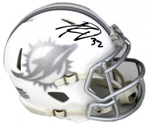 Kenyan Drake Signed Miami Dolphins Riddell NFL Ice Mini Helmet-0