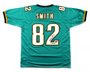 "Jimmy Smith Signed Jacksonville Green Custom Football Jersey with ""5x Pro Bowl"" Inscription-0"