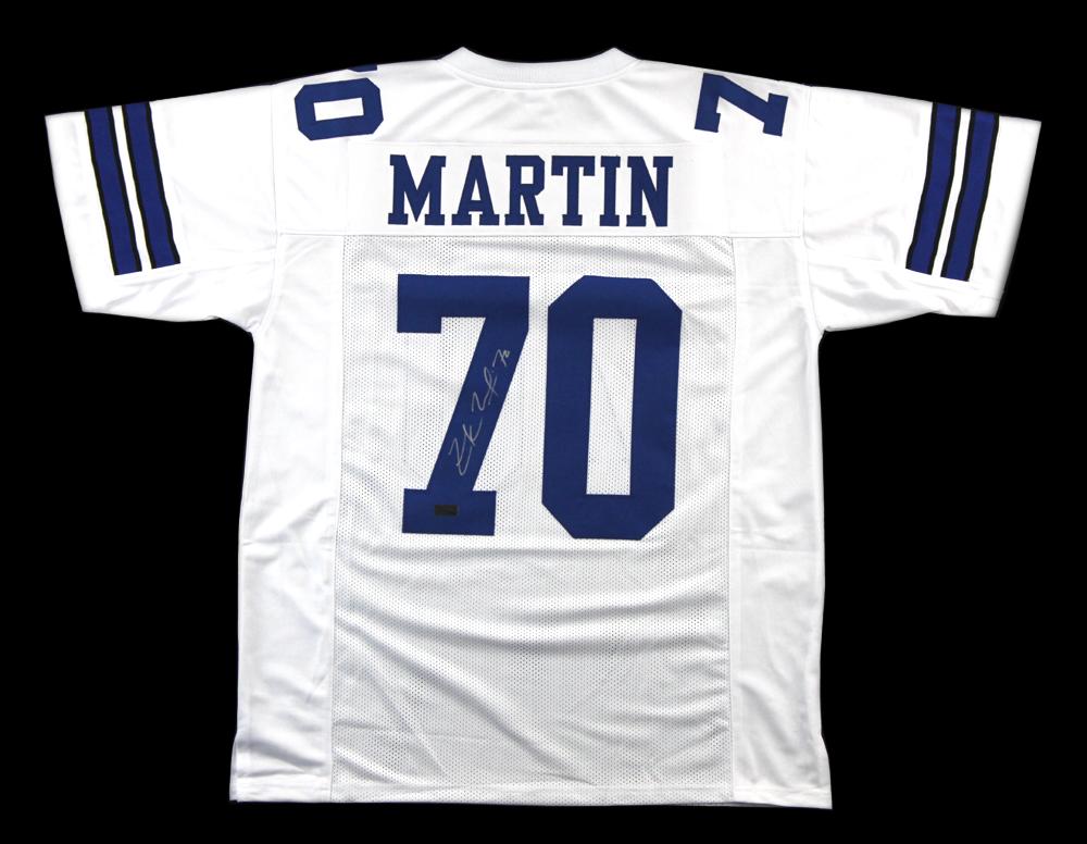wholesale dealer 3796d 5536a Zack Martin Signed Dallas Cowboys White Custom Jersey
