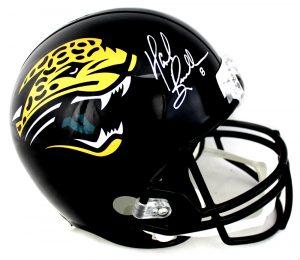 Mark Brunell Signed Jacksonville Jaguars Throwback NFL Full Size Black Helmet-0