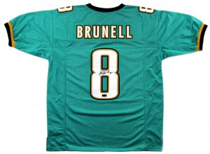 Mark Brunell Signed Jacksonville Jaguars Custom Green Jersey-0