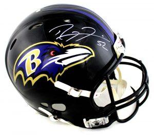Ray Lewis Signed Baltimore Ravens Full Size Authentic Black Revolution Helmet-0