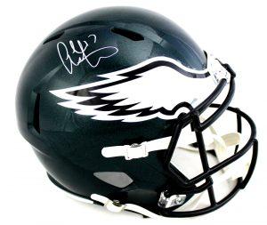 Alshon Jeffery Signed Philadelphia Eagles Riddell Full Size Speed Super Bowl 52 Commemorative NFL Helmet -0