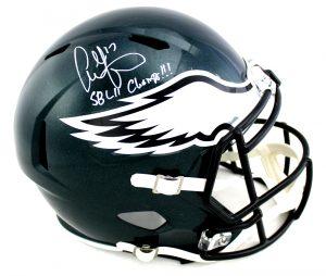 """Alshon Jeffery Signed Philadelphia Eagles Riddell Full Size Speed NFL Helmet With """"SB 52 Champ"""" Inscription-0"""