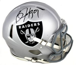 Bo Jackson Signed Oakland Raiders Authentic Speed NFL Helmet-0
