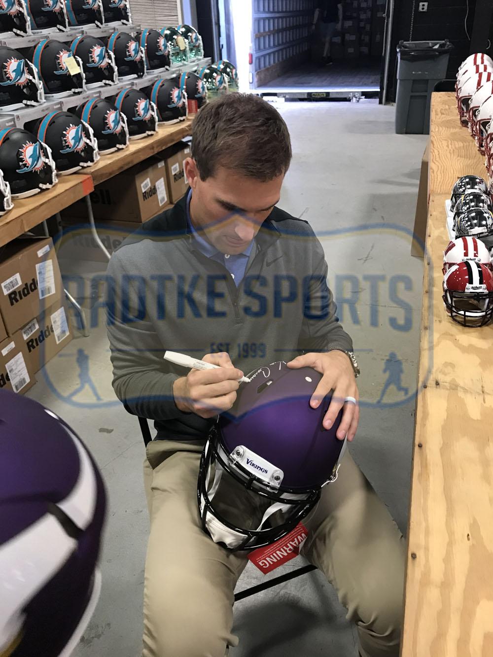 c2c5ba2390c992 Kirk Cousins Signed Minnesota Vikings Speed Authentic NFL Helmet ...