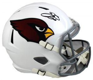 Emmitt Smith Signed Arizona Cardinals Riddell Full Size Speed NFL Helmet -0