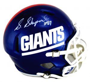 Sterling Shepard Signed New York Giants Riddell Full Size Color Rush NFL Helmet-0