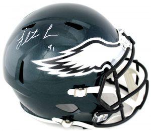 Fletcher Cox Signed Philadelphia Eagles Riddell Full Size Speed NFL Helmet-0