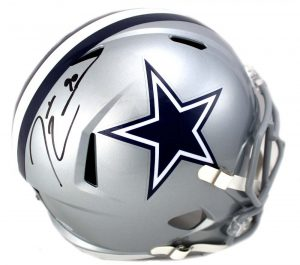 Demarcus Lawrence Signed Dallas Cowboys Riddell Speed Full Size NFL Helmet -0