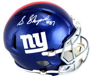 Sterling Shepard Signed New York Giants Riddell Speed Full Size NFLHelmet-0
