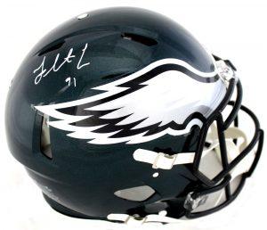 Fletcher Cox Signed Philadelphia Eagles Riddell Authentic Speed NFL Helmet-0