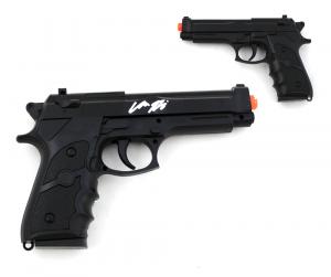 "Chandler Riggs ""Carl Grimes"" Signed Replica Black Beretta Pistol-0"