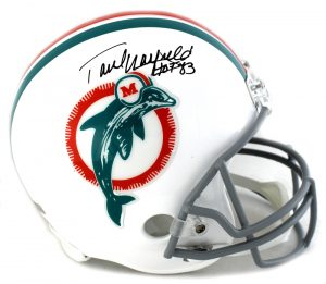 "Paul Warfield Signed Miami Dolphins Riddell Throwback Full Size NFL Helmet With ""HOF 83"" Inscription-0"
