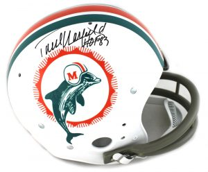 "Paul Warfield Signed Miami Dolphins Riddell TK Suspension Full Size NFL Helmet With ""HOF 83"" Inscription-0"