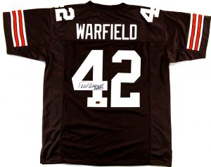 "Paul Warfield Signed Cleveland Custom Brown Jersey With ""HOF 83"" Inscription-0"