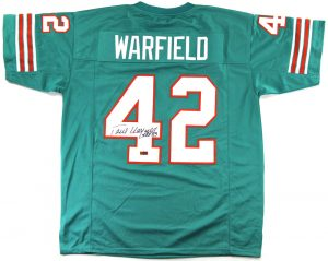 "Paul Warfield Signed Miami Custom Green Jersey With ""HOF 83"" Inscription-0"