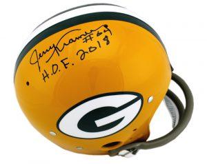 "Jerry Kramer Signed Green Bay Packers Full-Size TK Suspension NFL Helmet With ""HOF 2018"" Inscription-0"