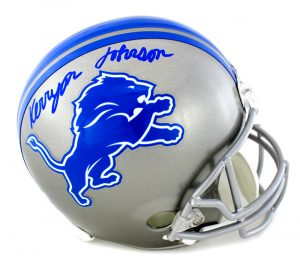 Kerryon Johnson Signed Detroit Lions Riddell Full Size Helmet-0