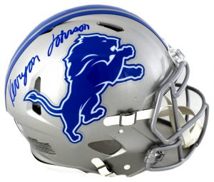 Kerryon Johnson Signed Detroit Lions Riddell Speed Authentic Helmet-0