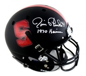 "Jim Plunkett Signed Stanford Cardinals Schutt Full Size NCAA Helmet With ""1970 Heisman"" Inscription-0"
