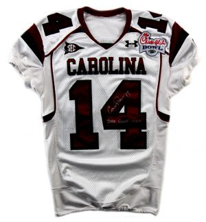 Connor Shaw Signed South Carolina Gamecocks Game Used 2010 Season Jersey-0