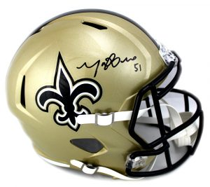 Manti Te'o Signed New Orleans Saints Riddell NFL Full-Size Speed Helmet-0
