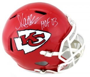 "Marcus Allen Signed Kansas City Chiefs Full Size NFL Speed Helmet With ""HOF03"" Inscription-0"