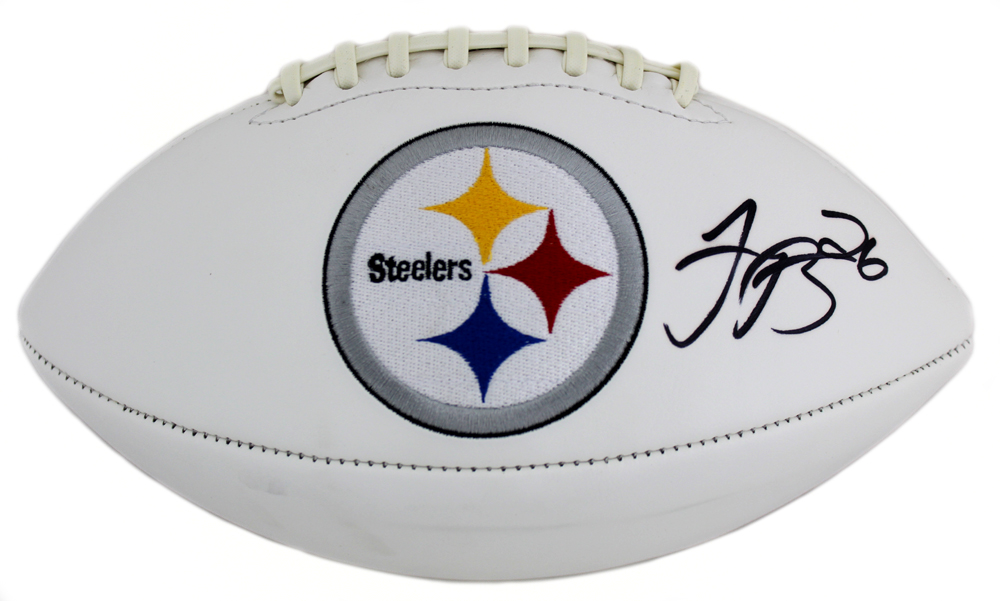 ca76045b50a Le Veon Bell Autographed Signed Pittsburgh Steelers Embroidered NFL Logo  Football