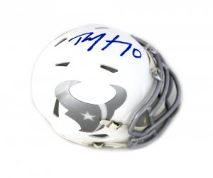 DeAndre Hopkins Signed Houston Texans NFL Ice Mini Helmet-0