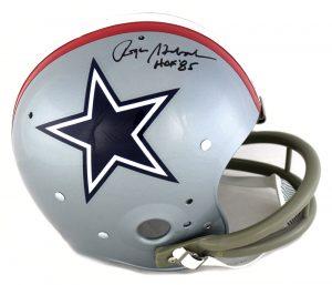 "Roger Staubach Signed Dallas Cowboys TK Suspension 1976 NFL Helmet With ""HOF 85"" Inscription-0"