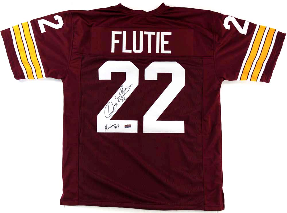 Doug Flutie Signed Boston College Eagles Custom Maroon Jersey With