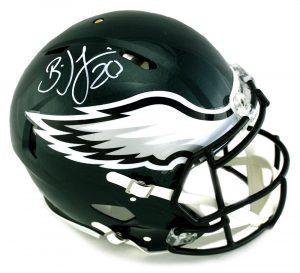 Brian Dawkins Signed Philadelphia Eagles Riddell Speed Full Size NFL Helmet-0