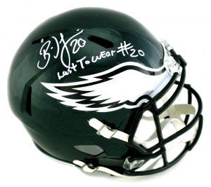 "Brian Dawkins Signed Philadelphia Eagles Riddell Speed Full Size NFL Helmet With ""Weapon X!!"" Inscription-30590"
