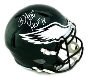 "Brian Dawkins Signed Philadelphia Eagles Riddell Speed Full Size NFL Helmet With ""Last to Wear #20"" Inscription-0"