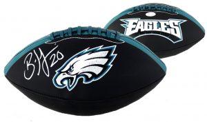 Brian Dawkins Signed Philadelphia Eagles Embroidered NFL Football-30489