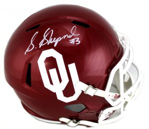 Sterling Shepard Signed Oklahoma Sooners Riddell Speed Full Size NCAA Helmet -0