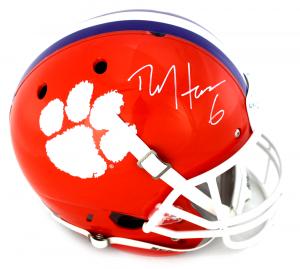 DeAndre Hopkins Signed Clemson Tigers Schutt Full Size NCAA Helmet -0