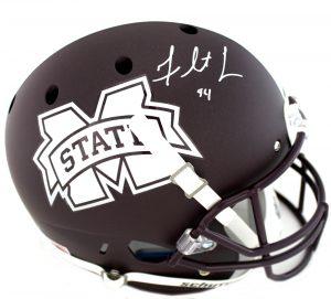 Fletcher Cox Signed MIssissippi State Bulldogs Schutt Full Size Maroon NCAA Helmet-0